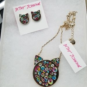 Betsy Johnson  set/necklace and earring set